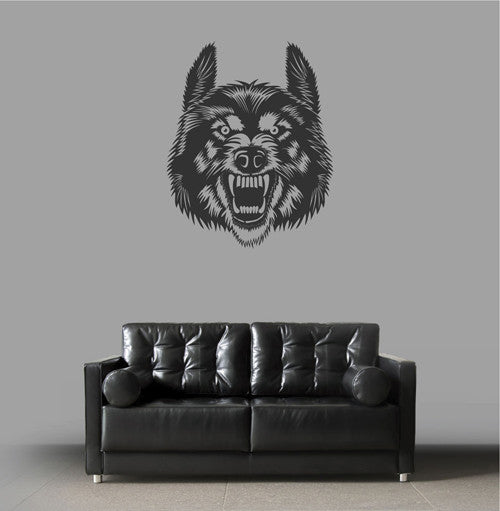 ik1953 Wall Decal Sticker Wolf grin animal forest bedroom living room