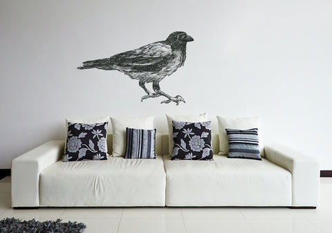 ik195 Wall Decal Sticker Decor clever bird interior bed kids