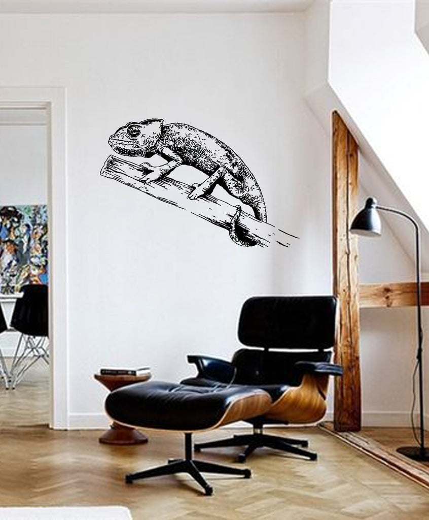 ik197 Wall Decal Sticker Decor Chameleon a branch predator interior bed