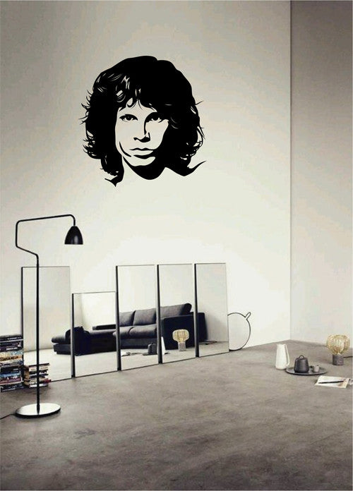 ik1987 Wall Decal Sticker Jim Morrison singer songwriter star performer bedroom