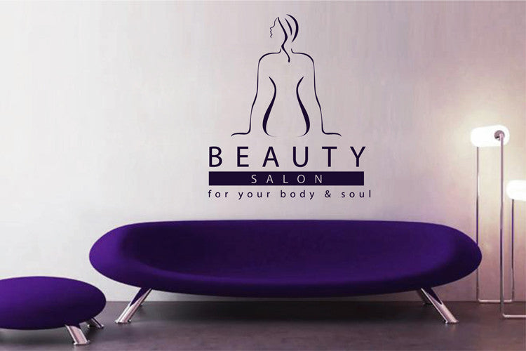 ik1995 Wall Decal Sticker girl sitting beauty salon spa