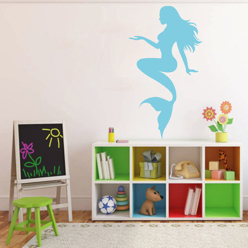 ik2003 Wall Decal Sticker mermaid siren fabulous marine creature children