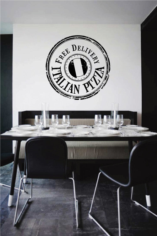 ik2007 Wall Decal Sticker free shipping Italian pizza restaurant pizzeria snack