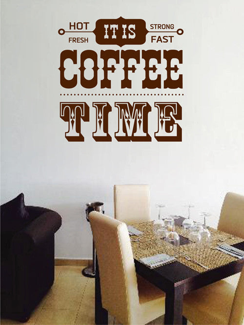 ik2012 Wall Decal Sticker sign letters coffee strong fresh coffee restaurant