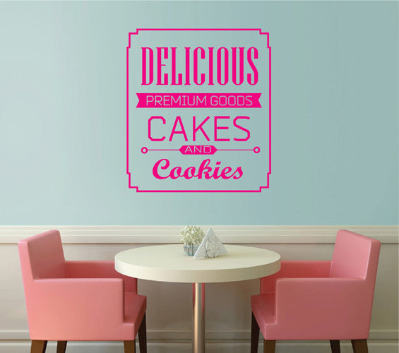 ik2014 Wall Decal Sticker inscription letters cakes cupcakes bakery cafe