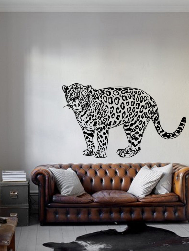 ik201 Wall Decal Sticker Decor jaguar animal predator big cat interior bed