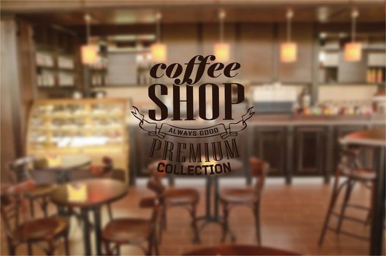 ik2020 Wall Decal Sticker Coffee Shop Premium Collection