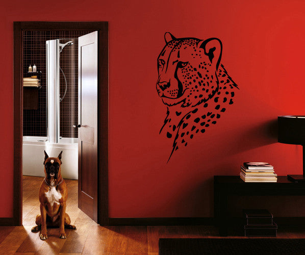 ik202 Wall Decal Sticker Decor cheetah animal animal speed predator cat African