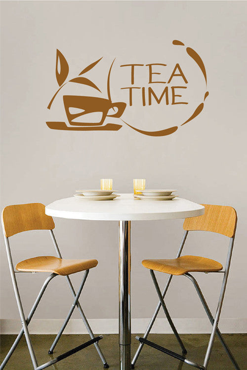 ik2031 Wall Decal Sticker while cup tea drink restaurant kitchen