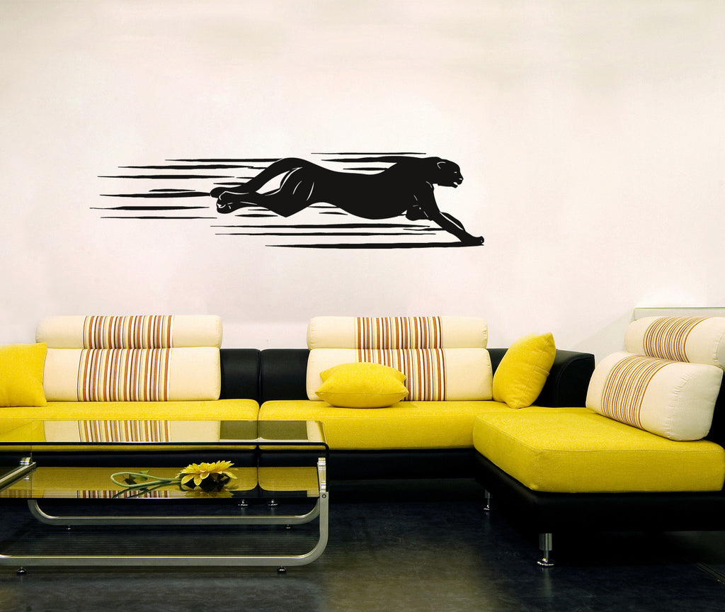 ik203 Wall Decal Sticker Decor cheetah animal animal speed predator cat African