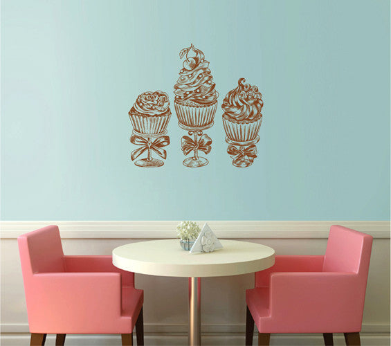 ik2049 Wall Decal Sticker sweet dessert cakes snack restaurant shop window