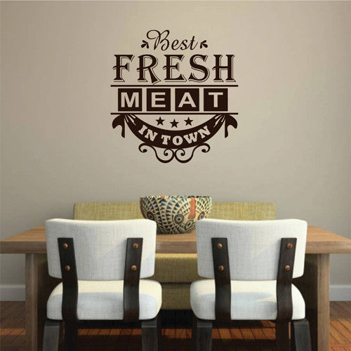 ik2055 Wall Decal Sticker Fresh meat is the best in town diner restaurant cafe