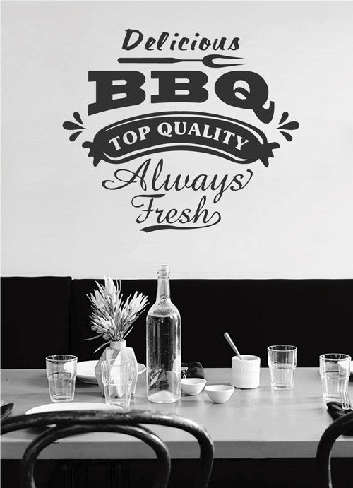 ik2057 Wall Decal Sticker quality always fresh barbecue snack restaurant cafe