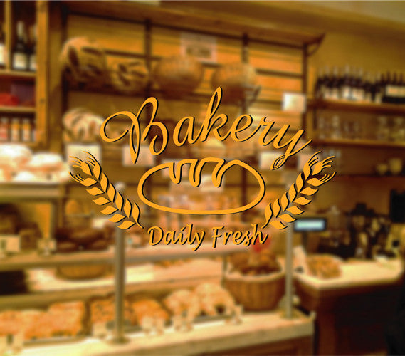 ik2062 Wall Decal Sticker Daily fresh baked bread bakery
