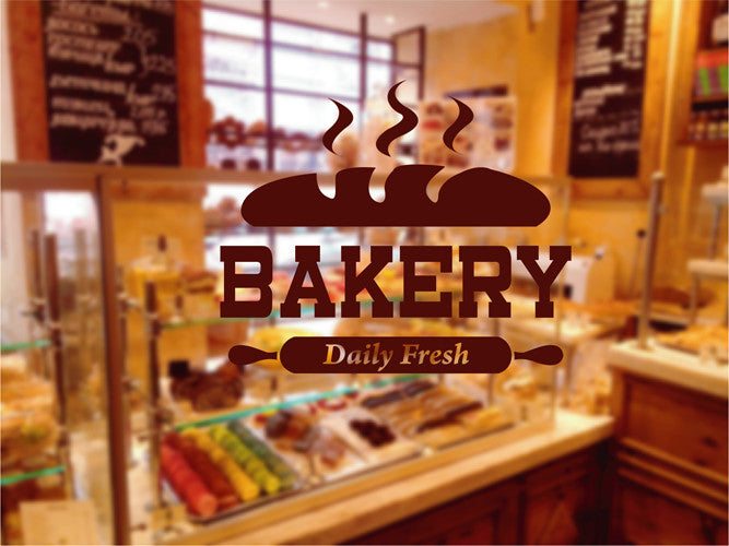 ik2063 Wall Decal Sticker Daily fresh baked bread bakery
