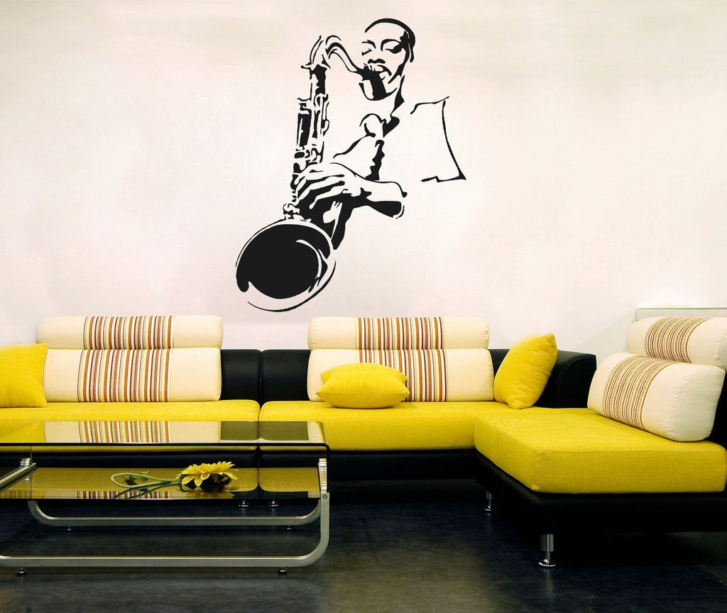 ik206 Wall Decal Sticker Decor jazz musician sax saxophone music interior