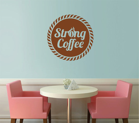 ik2139 Wall Decal Sticker strong coffee drink restaurant cafe diner Showcases