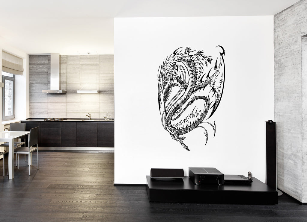 ik215 Wall Decal Sticker Decor dragon fantasy interior bed