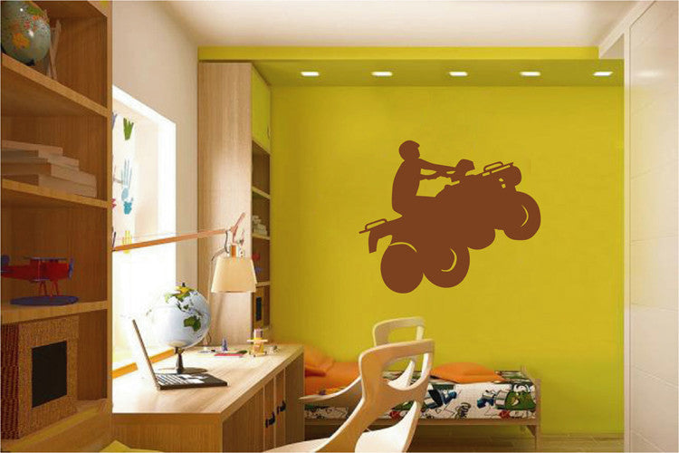 ik2169 Wall Decal Sticker ATV racing trucks lounge children's bedroom