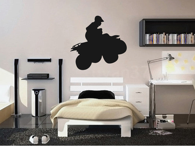 ik2170 Wall Decal Sticker ATV racing trucks lounge children's bedroom