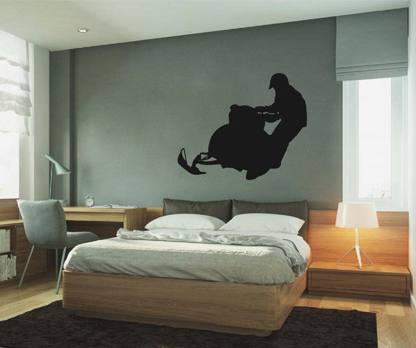 ik2175 Wall Decal Sticker Snowmobile racing trucks lounge children's bedroom