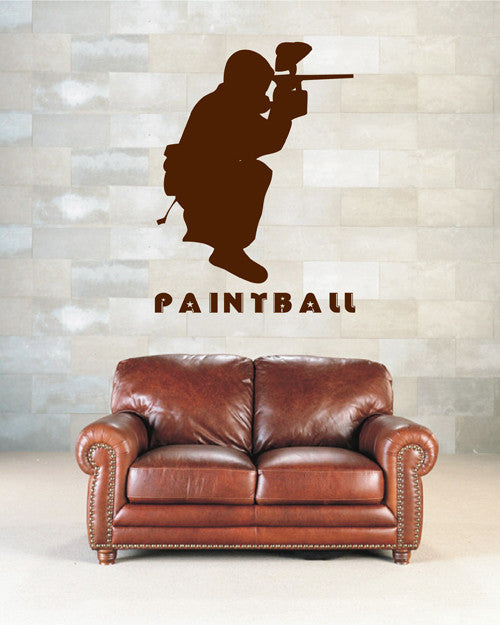 ik2177 Wall Decal Sticker sports game paintball living children's bedroom