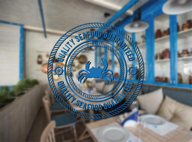 ik2179 Wall Decal Sticker Seafood guaranteed quality fish restaurant shop