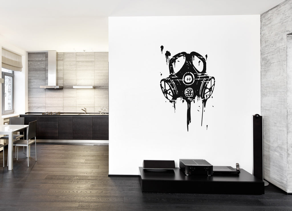 ik217 Wall Decal Sticker Decor mask apocalypse postapokalipsis end world