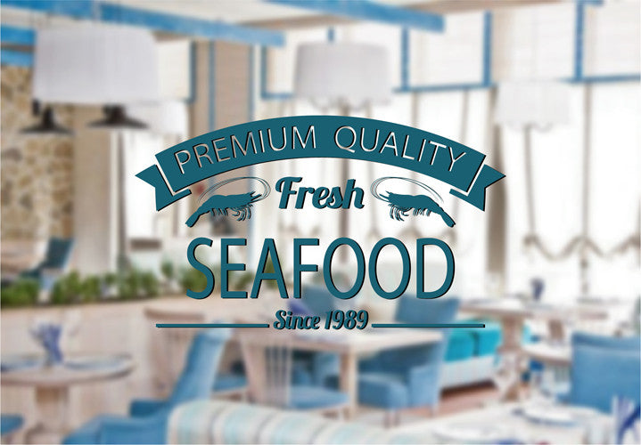 ik2182 Wall Decal Sticker Cancers premium quality fresh food fish restaurant