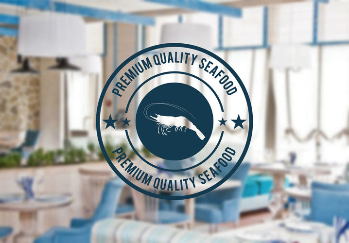 ik2183 Wall Decal Sticker Cancer of premium quality sea food fish restaurant