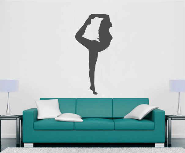 ik2228 Wall Decal Sticker Girl gymnast sports hall bedroom