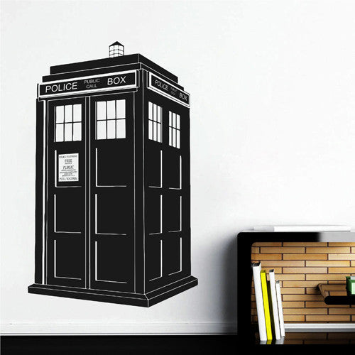 ik2244 Wall Decal Sticker Time Machine Spaceship tardis doctor who bedroom