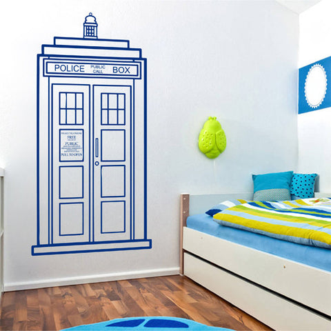 Ik2245 Wall Decal Sticker Time Machine Spaceship Tardis Doctor Who Bedroom Part 54
