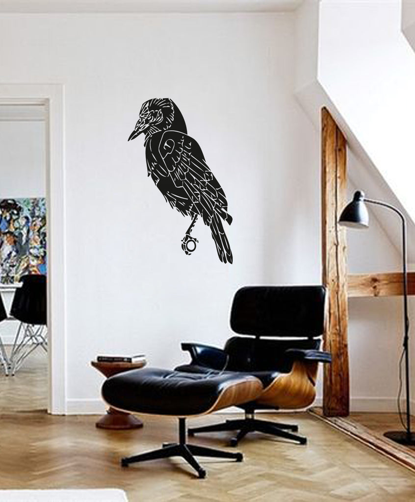 ik224 Wall Decal Sticker Decor raven bird interior bed