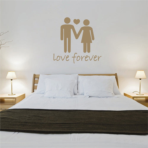 ik2263 Wall Decal Sticker Abstract male female couple love forever bedroom