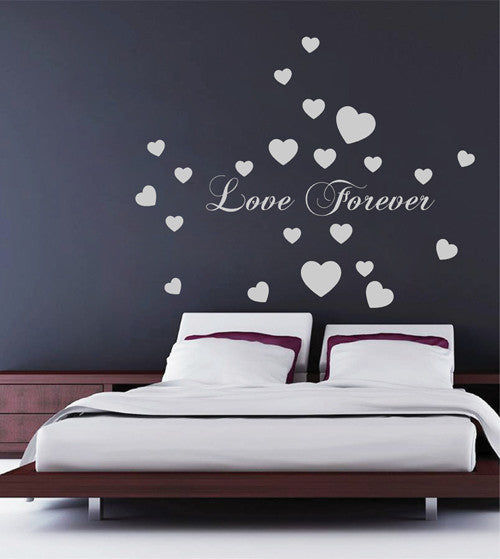 ik2266 Wall Decal Sticker inscription love heart forever living room bedroom