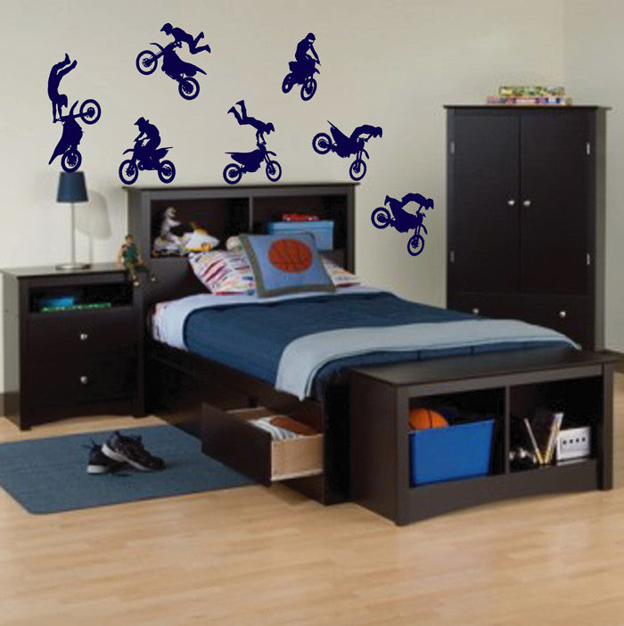Wall Decal Sticker Decor motocross moto sport bike sport race speed