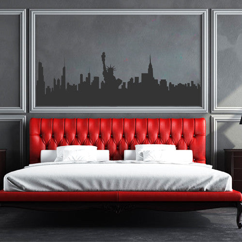 ik2278 Wall Decal Sticker new york city statue of liberty panorama living room bedroom