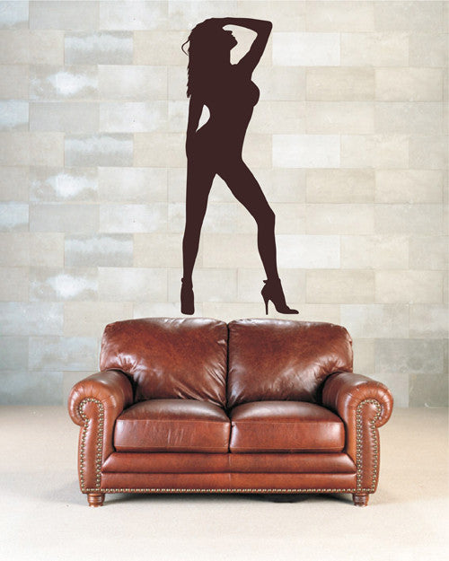 ik2294 Wall Decal Sticker sexy girl dance pose beautiful living room bedroom