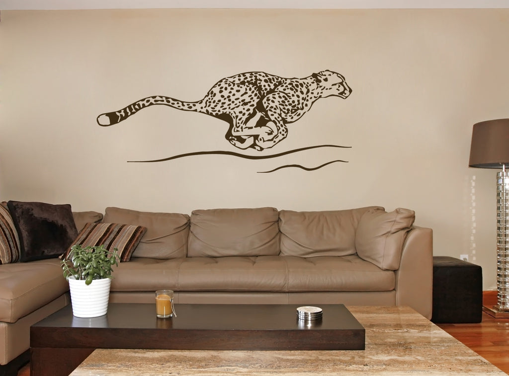 ik231 Wall Decal Sticker Decor cheetah big cat Africa speed animal interior