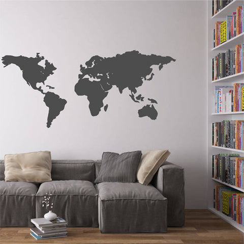 ik2325 Wall Decal Sticker world map living room bedroom office
