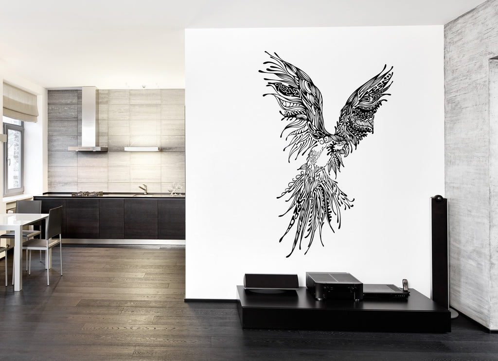 ik232 Wall Decal Sticker Decor large parrot bird animal delicate interior