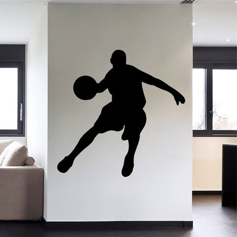 ik2335 Wall Decal Sticker basketball jump man living bedroom sports shop