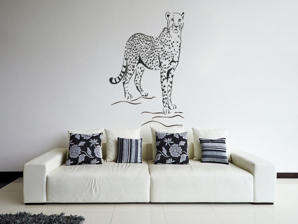 ik234 Wall Decal Sticker Decor cheetah big cat animal Africa speed sprinter