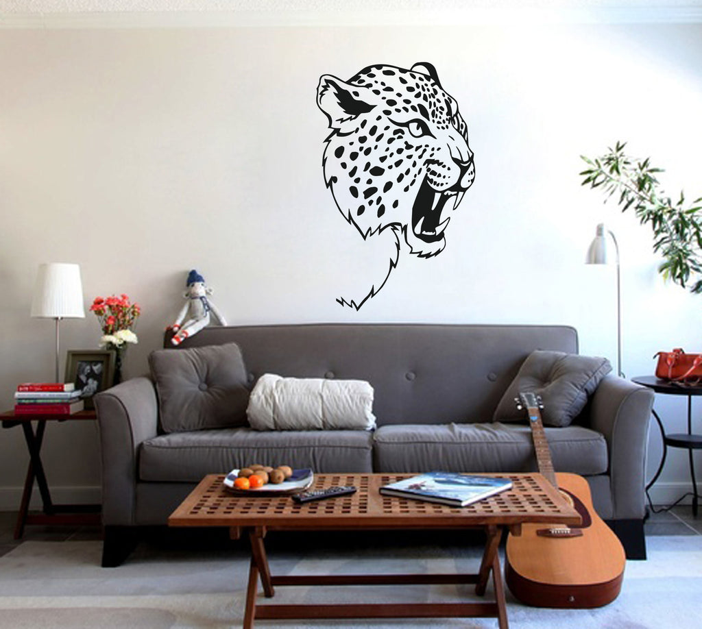 ik235 Wall Decal Sticker Decor leopard big cat Africa predator interior