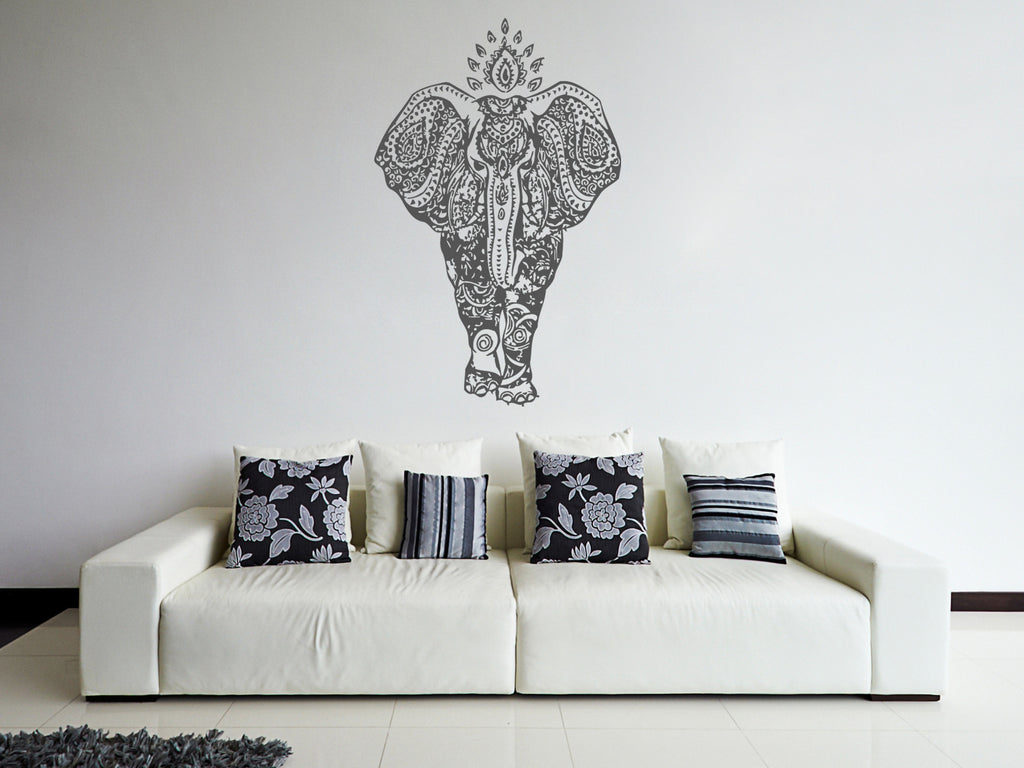 ik239 Wall Decal Sticker Decor Indian elephant ornament interior bed