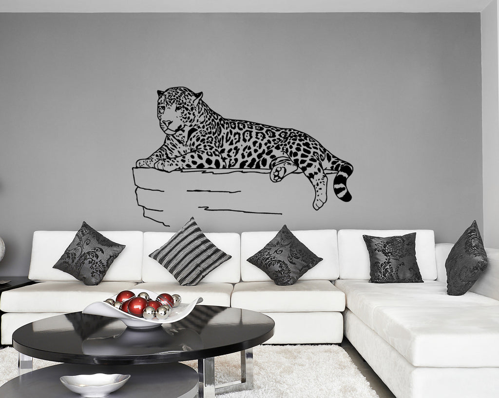ik244 Wall Decal Sticker Decor jaguar mountains big cat predator interior