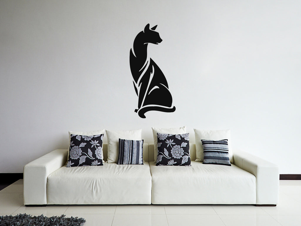 ik247 Wall Decal Sticker Decor Egyptian cat sacred animal symbol fertility