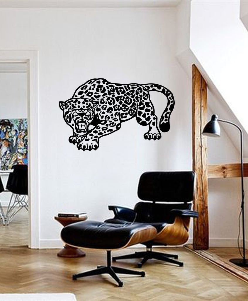 ik249 Wall Decal Sticker Decor jaguar big cat dangerous predator interior