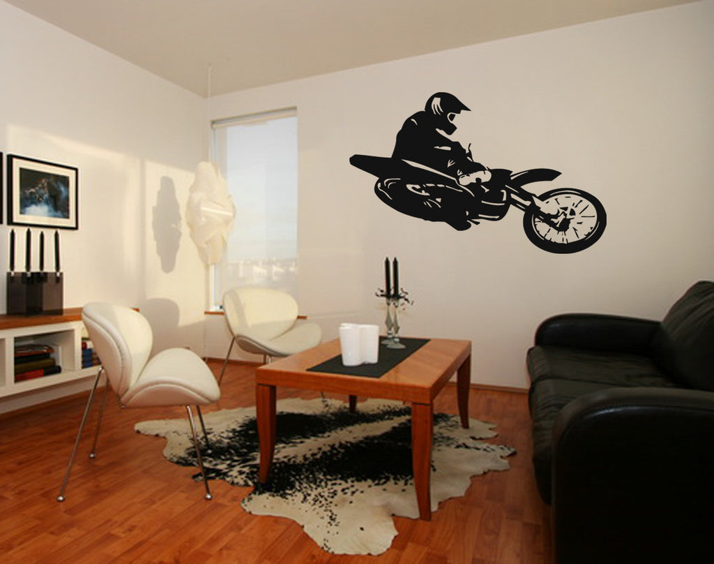 ik261 Wall Decal Sticker Decor motocross moto bike racer race speed adrenaline